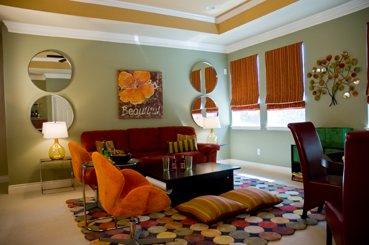 Funky Family Room Austin Interior Design By Adentro Designs