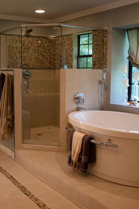 Glamorous Bathroom Remodel Austin Interior Design By Adentro Designs