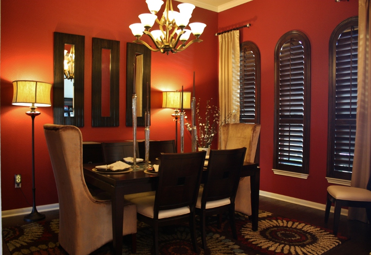 sexy round rock dining room. Black Bedroom Furniture Sets. Home Design Ideas