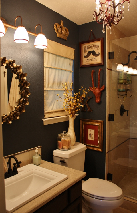 N Austin Guest Bathroom Remodel Austin Interior Design By Adentro Designs