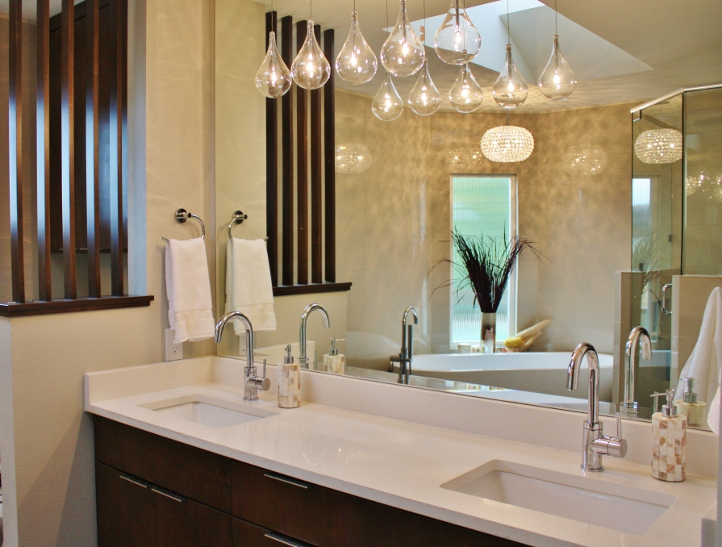 Austin Master Bathroom Austin Interior Design By Adentro Designs