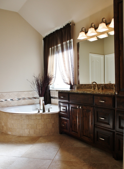 Round Rock Master Bathroom Remodel Austin Interior Design By Adentro Designs